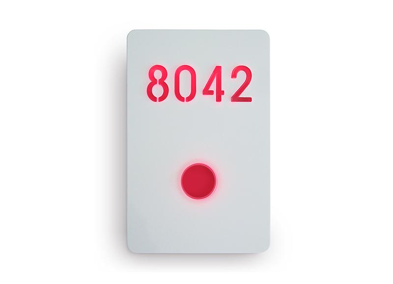 Illuminated Number Sign White