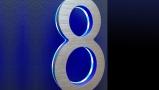 "Modern Illuminated 5"" House Numbers Blue"