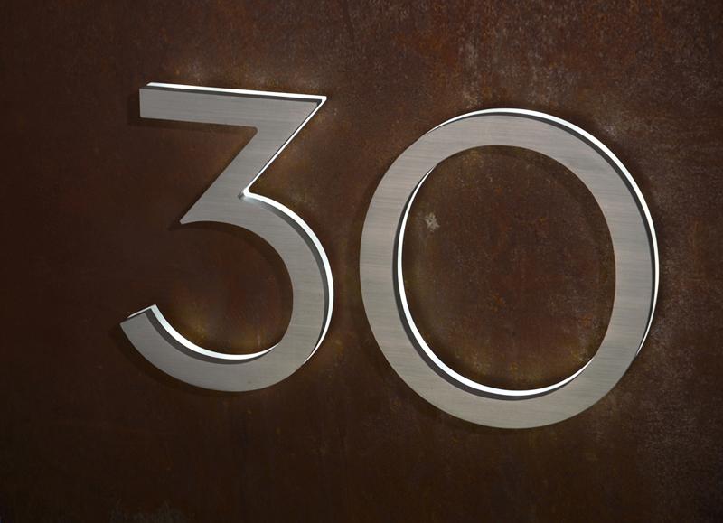 Modern Neutra House Numbers Led Backlit