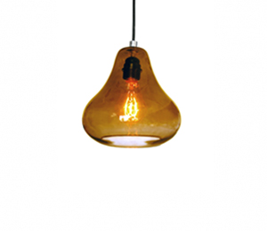 Amber Pear Pendant Light