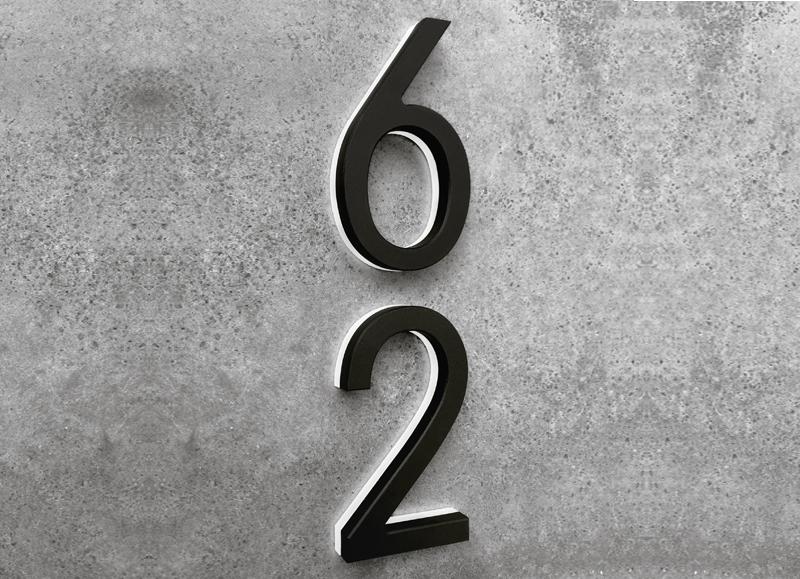 Modern Black 5″ Backlit LED Numbers