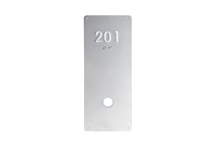 Illuminated Modern Room Number Sign Braille