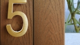 Modern Brass Led House Numbers 5″