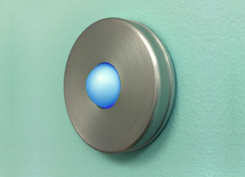 Illuminated Round Doorbell Button Brushed