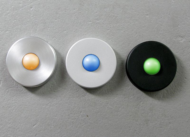 Illuminated Round Black Doorbell Button
