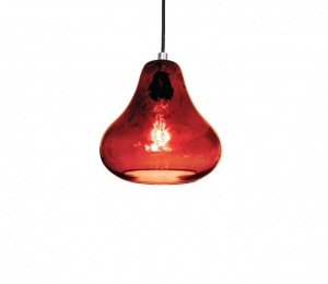 Pear Pendant Lamp – Ruby Red