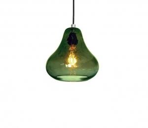 Pear Pendant Light – Olive Glass