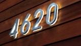 Modern 8″ Backlit LED House Numbers