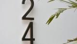 Modern 10″ Bronze Backlit Numbers