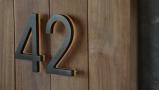 Modern 5″ Bronze House Numbers Illuminated