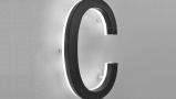 Modern Lighted Black House Letters 5″