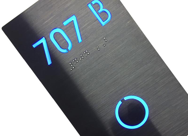 Room Number Panel Sign Black – Lighted