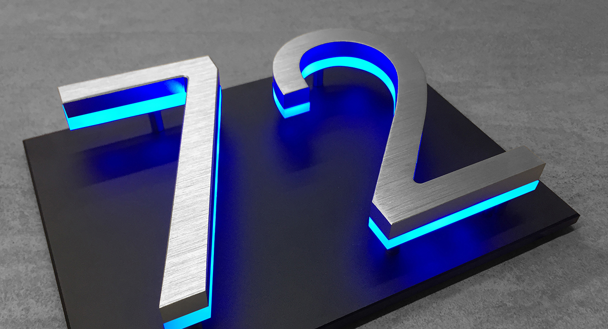 Modern Backlit Numbers