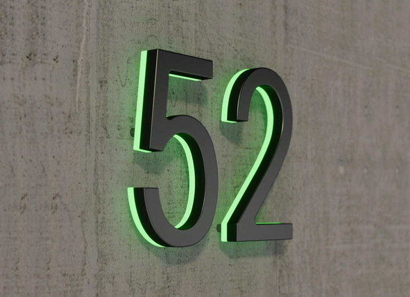 Modern 24″ Lighted House Numbers