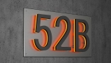 Panel Backplate for 8″ Numbers