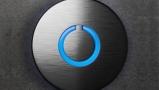 Black Touch Doorbell Round Button