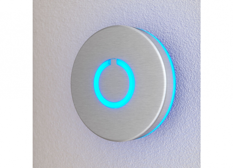Round Touch Doorbell Silver