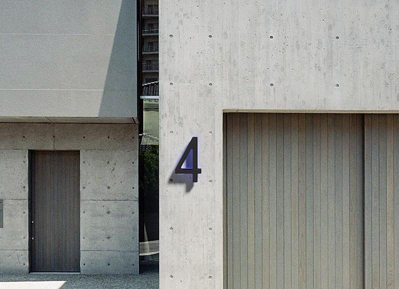 Modern 10″ Black Backlit Numbers