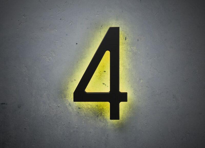 Black 16″ Backlit House Numbers
