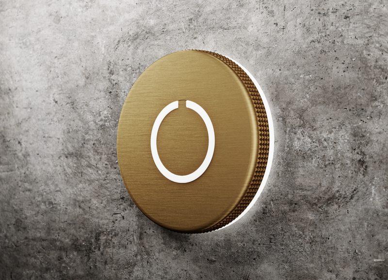 Round Touch Doorbell Brass