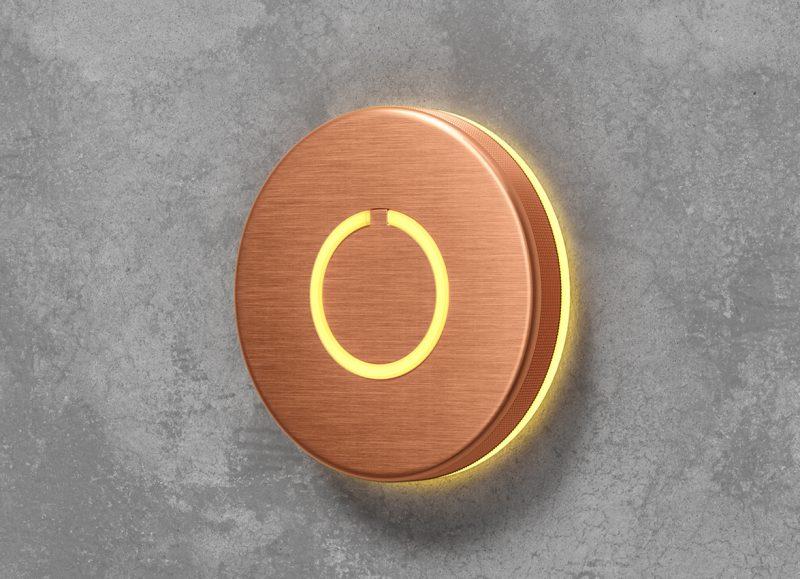 Round Touch Doorbell Copper