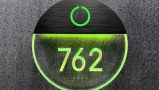 Round Bronze Clear Lighted Number Panel + Doorbell
